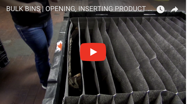 BULK BINS | OPENING, INSERTING PRODUCT & COLLAPSING