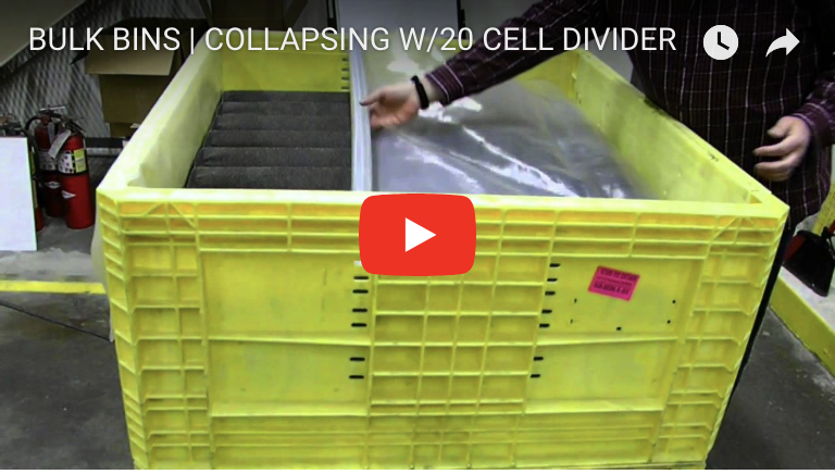 BULK BINS | COLLAPSING W:20 CELL DIVIDER