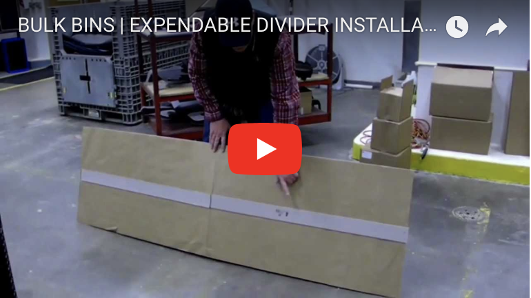 BULK BINS | EXPENDABLE DIVIDER INSTALLATION