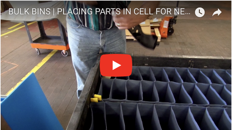 BULK BINS | PLACING PARTS IN CELL FOR NESTING