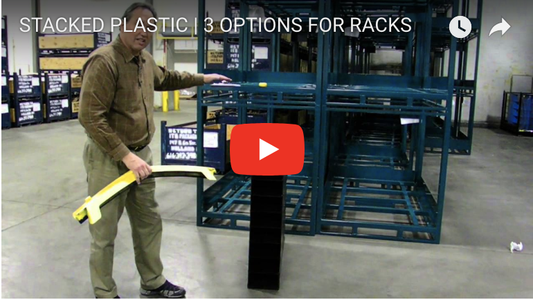 STACKED PLASTIC | 3 OPTIONS FOR RACKS